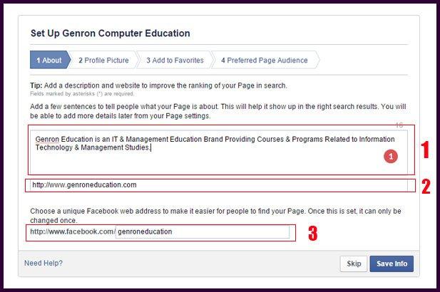Facebook Page Profile Create
