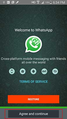 Agree and Continue Run 2 Whatsapp Installation