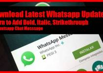 Whatsapp Bold and italic and strikethrough
