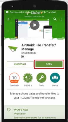 Transfer Files From Android Phone to PC Wifi