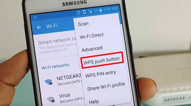 Under Wifi Setting Press WPS Button wot connect wifi Without Password
