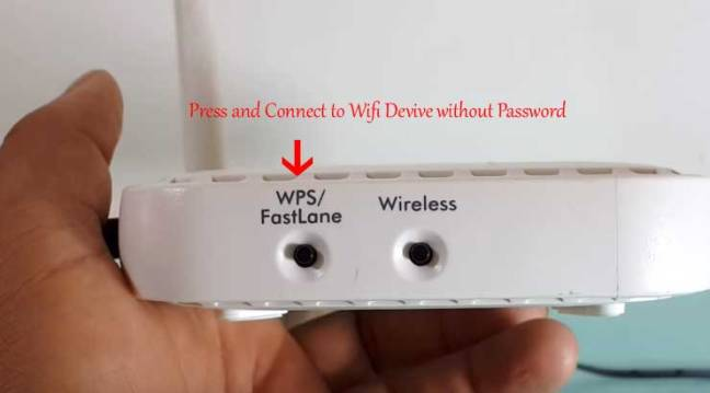 Press WPS Button on wifi router