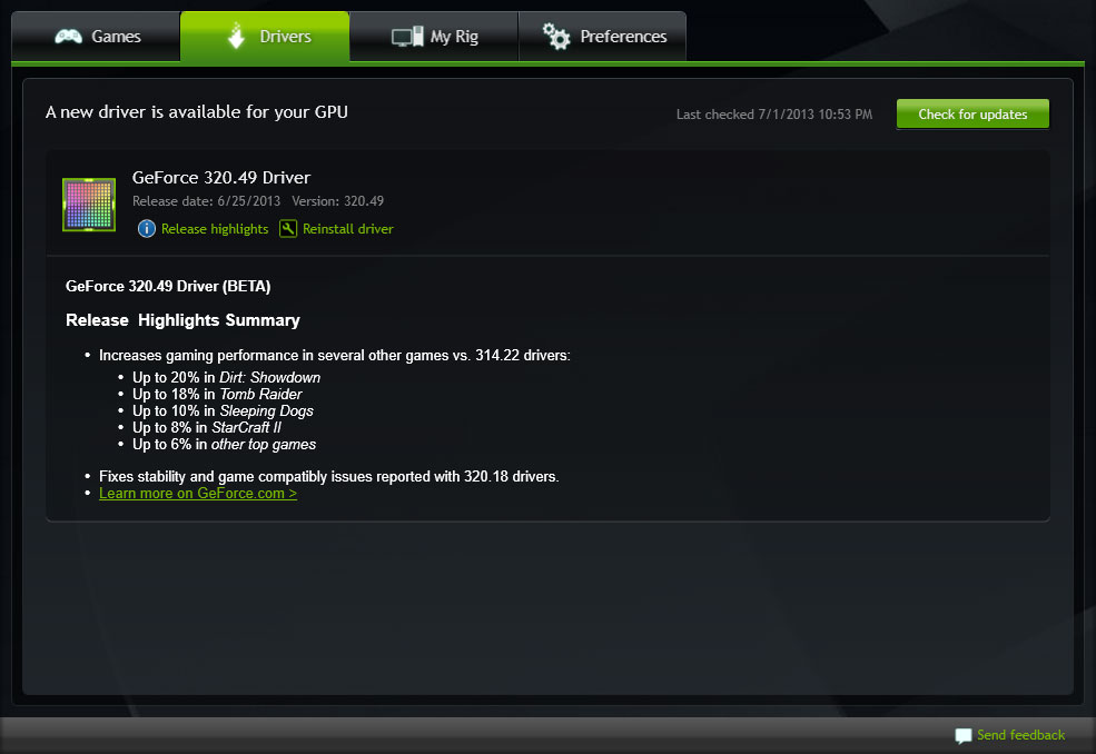 Nvidia geforce experience 3. 16. 0. 122.