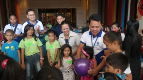 Fun games between kids and SM City General Santos employees