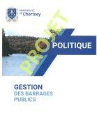 Projet de politique sur la gestion des barrages publics