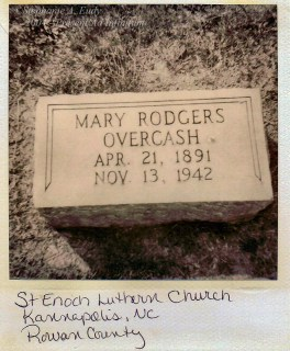 Mary Rodgers Overcash