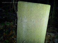 JSW (back of John Stanly Wooley's stone)