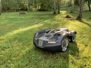Robotgräsklippare gör nytta