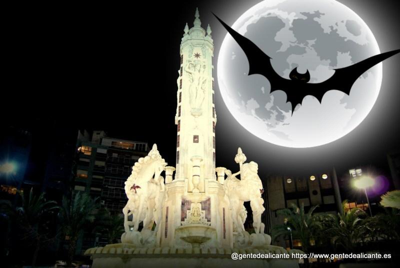 Alicante-plaza-de-los-luceros-cerca-noche halloween