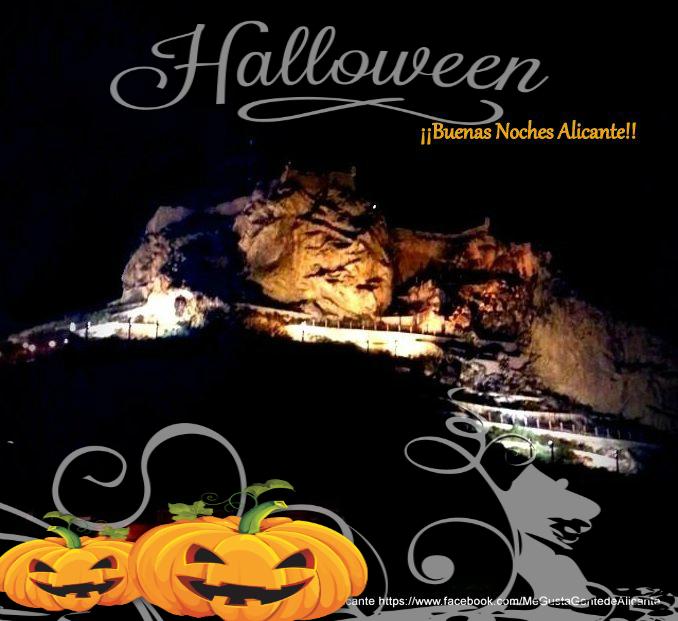 Alicante-Castillo-noche-001halloween
