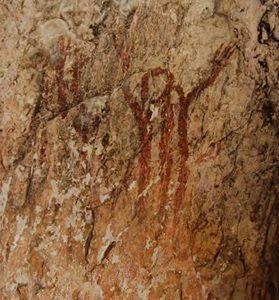 Figuras humanas de tipo macroesquemático. Barranc de l'Infern (Vall de Laguar).