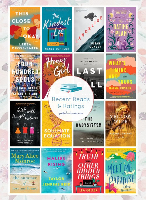 Recent Reads & Ratings