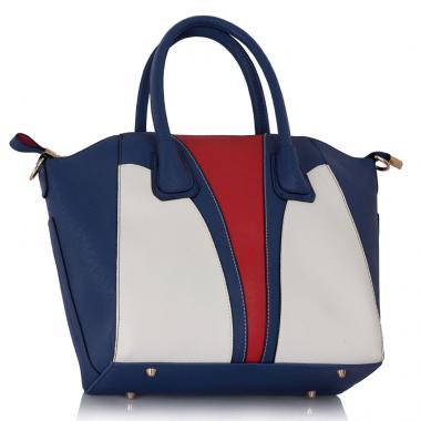 Geanta dama Tatiana - navy, roșu, alb-geanta de mana