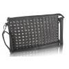 Gentuta de dama Tea-negru-model clutch