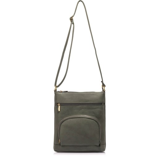 Geanta dama Melania-gri-model Cross Body