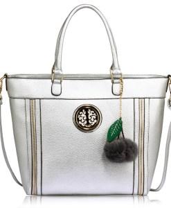 Geanta dama Melisa - argintie - geanta tote