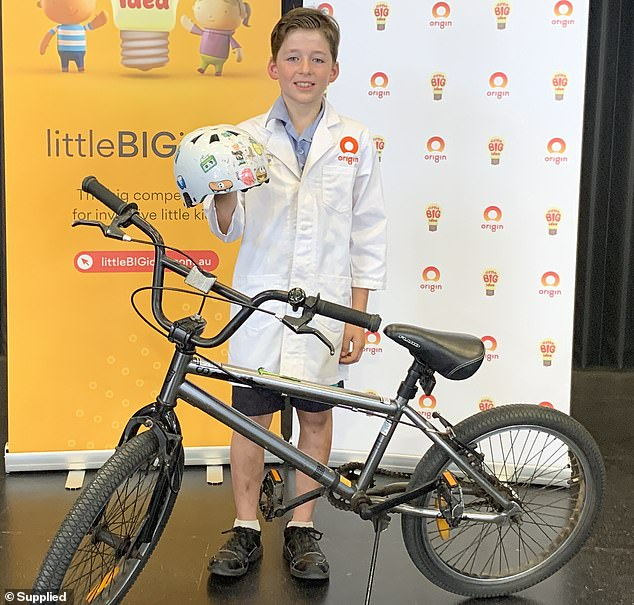 9-year-old's helmet invention wins idea competition