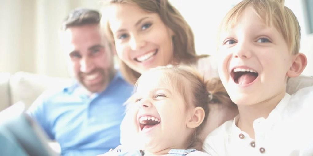 image of a happy family - getting through the fear of having kids