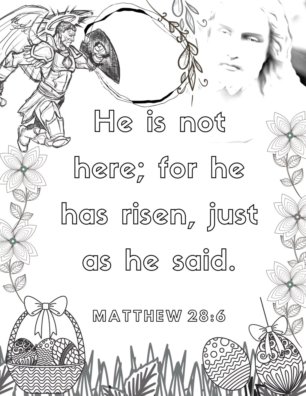 image of Easter Bible Verse coloring page