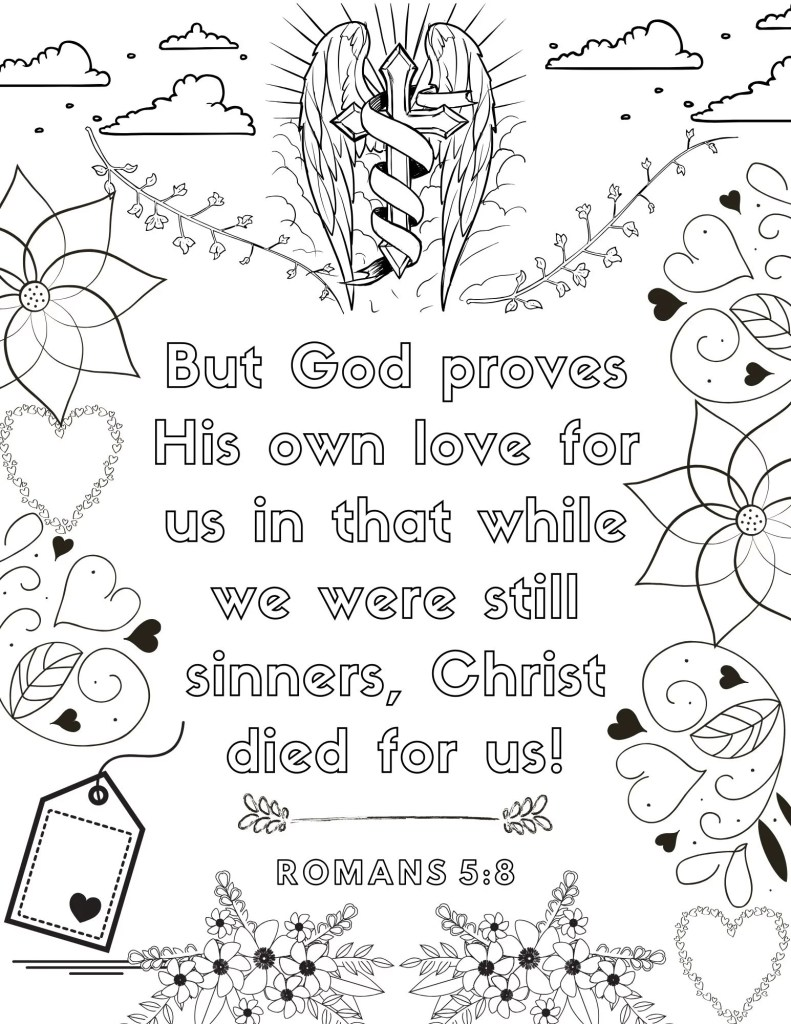 image of Bible Verse coloring page for adults