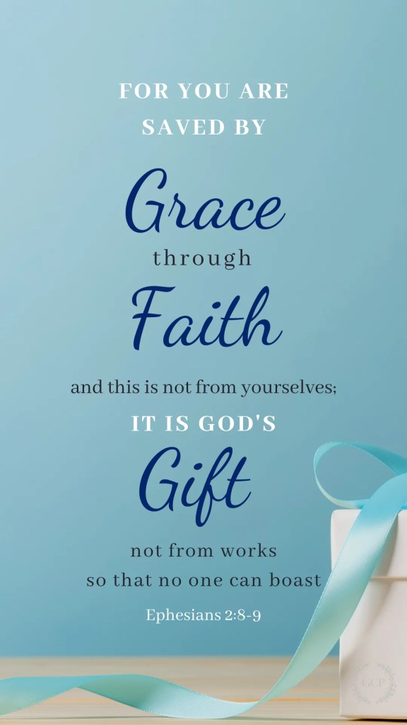 image of save by grace wallpaper bible verse