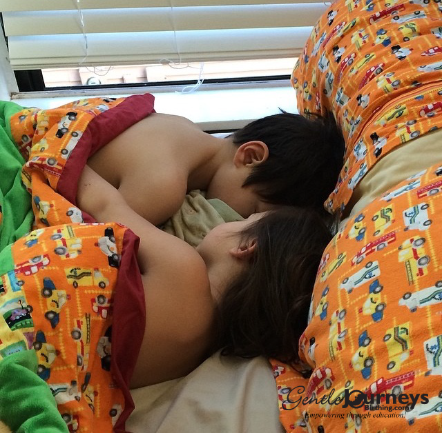 The Gentle Journeys Birthing little ones cosleeping together.