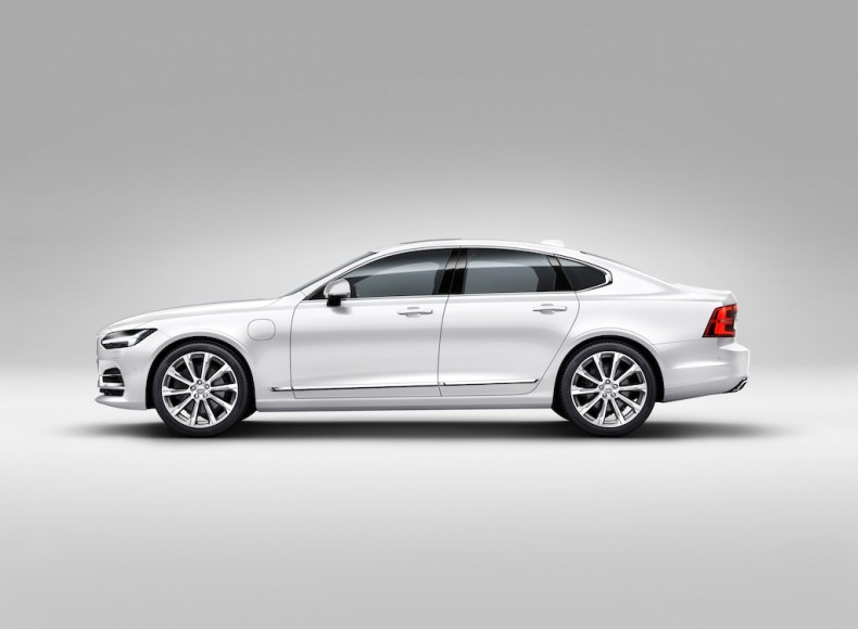 Profile Left Volvo S90 White