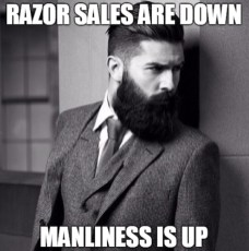 razor-sales-are-down-manliness-is-up-beard-memes