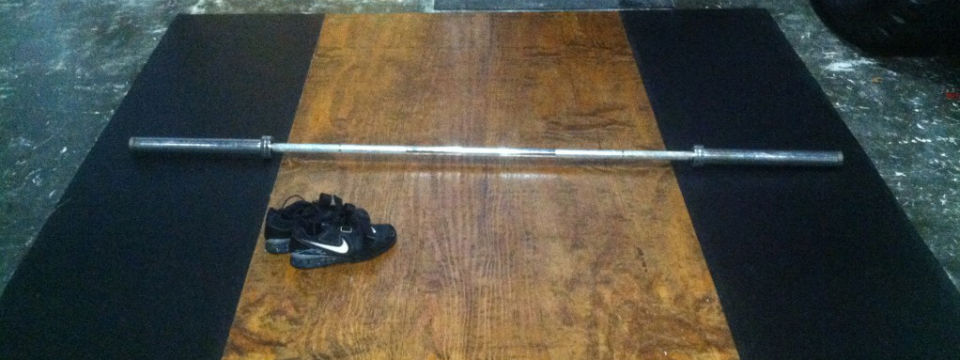 Diy Build An Olympic Weightlifting Platform The Gentleman