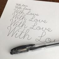 Single Line Font - Pen Test 2