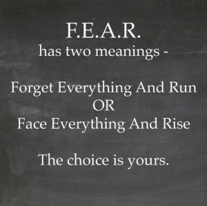 F.E.A.R. Two meanings - FEAR in BJJ