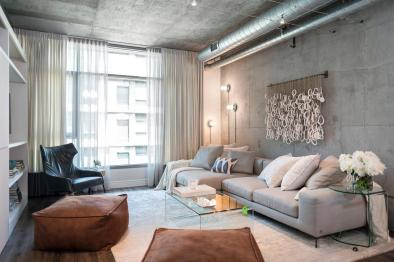 Apartmán zariadený v industriálnom štýle
