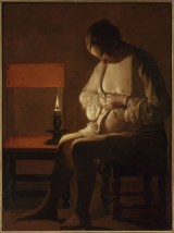 Georges de la Tour, La femme à la puce, 1638