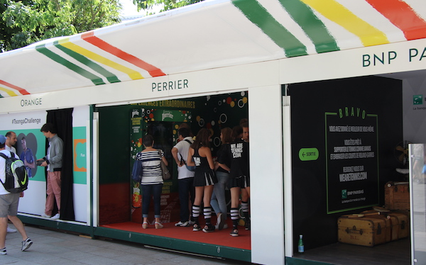 Le stand Perrier !
