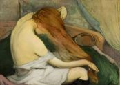 Wladyslaw Slewinski, Femme peignant ses cheveux, 1897