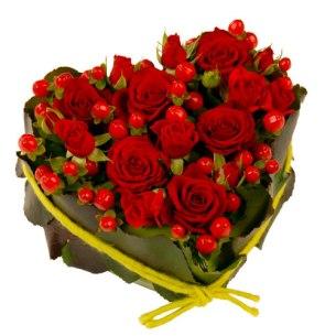 offrir fleurs saint valentin coeur