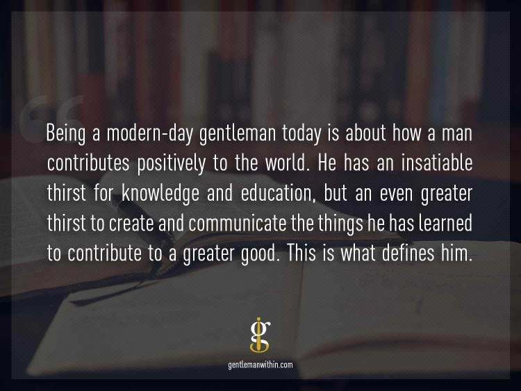 On Being A Gentleman | GENTLEMAN WITHIN