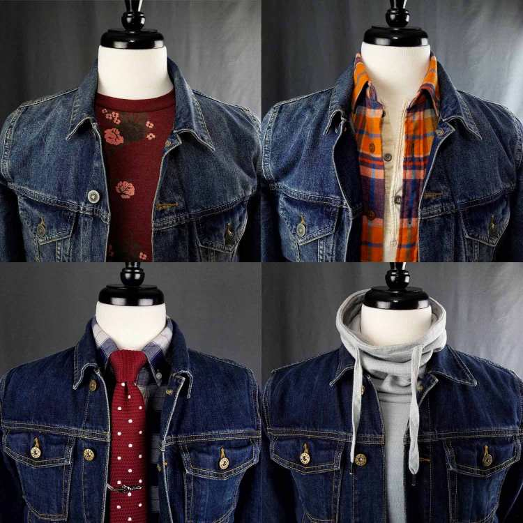 denim jacket styled collage