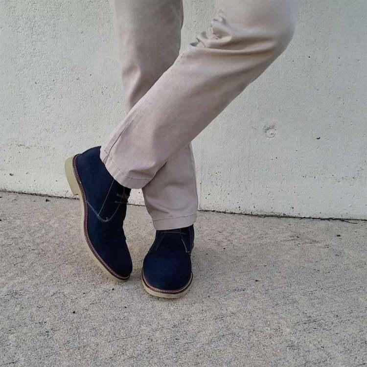 Navy Suede Chukka Boots | GENTLEMAN WITHIN