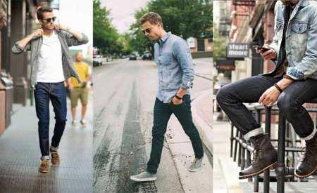 Dark Blue Jeans Casual Weekend Looks