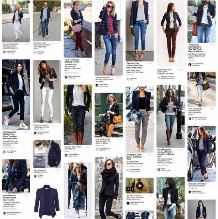 Girls Weairing The Navy Blue Blazer