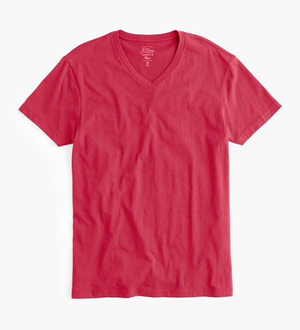 J. Crew Red V-Neck T-Shirt