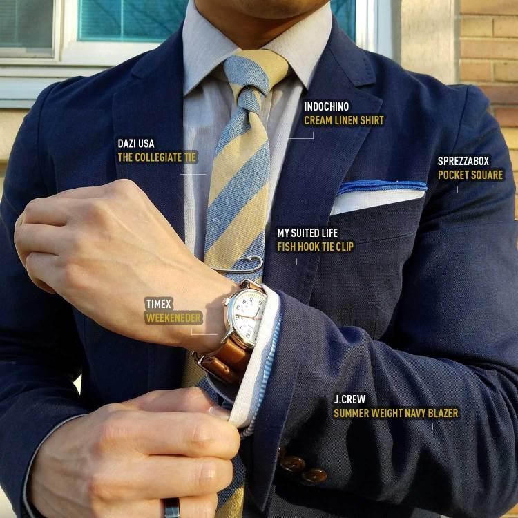 Navy Blazer And Accessories | GENTLEMAN WITHIN