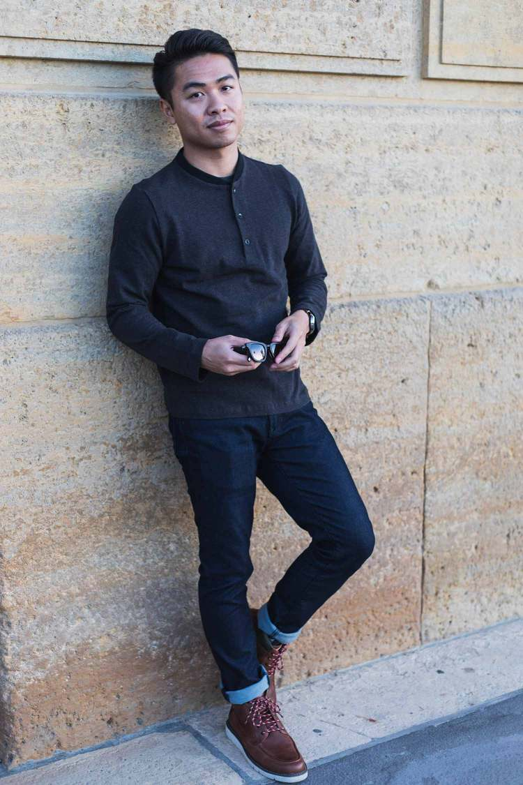 Minimal Streamlined Henley | GENTLEMAN WITHIN