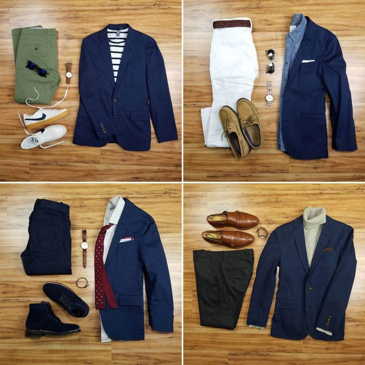Navy Blazer Flatlays | GENTLEMAN WITHIN