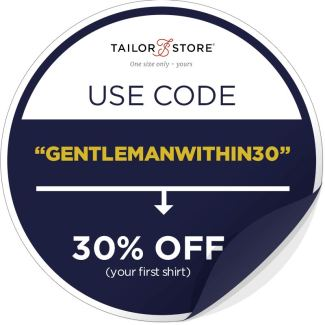 Tailor Store Discount Sticker | GENTLEMAN WITHIN