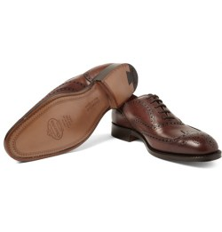 Brown brogues are a great choice for a wedding