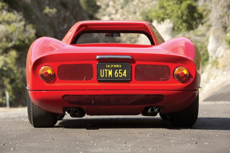 Back view of the Ferrari 250 LM