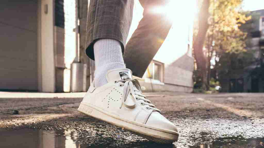 White Adidas Stan Smith Up Close
