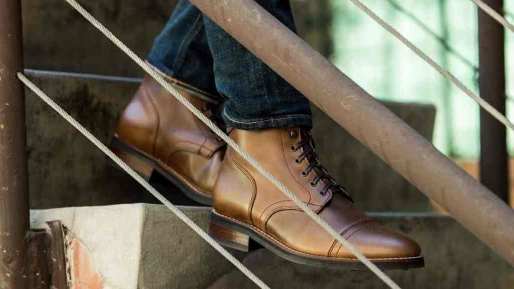 Winter Cap Toe Leather Boots